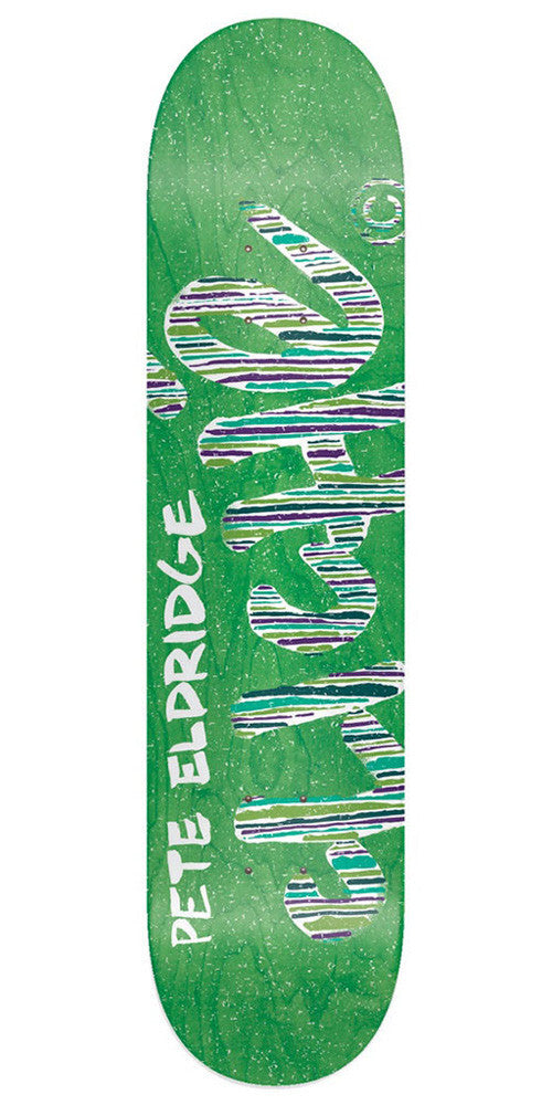 Cliche Pete Eldridge Stripes Series R7 Skateboard Deck - Green - 8.25in