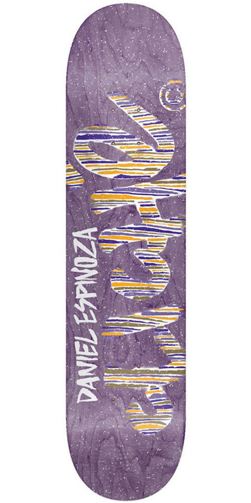 Cliche Daniel Espinoza Stripes Series R7 Skateboard Deck - Purple - 8.0in