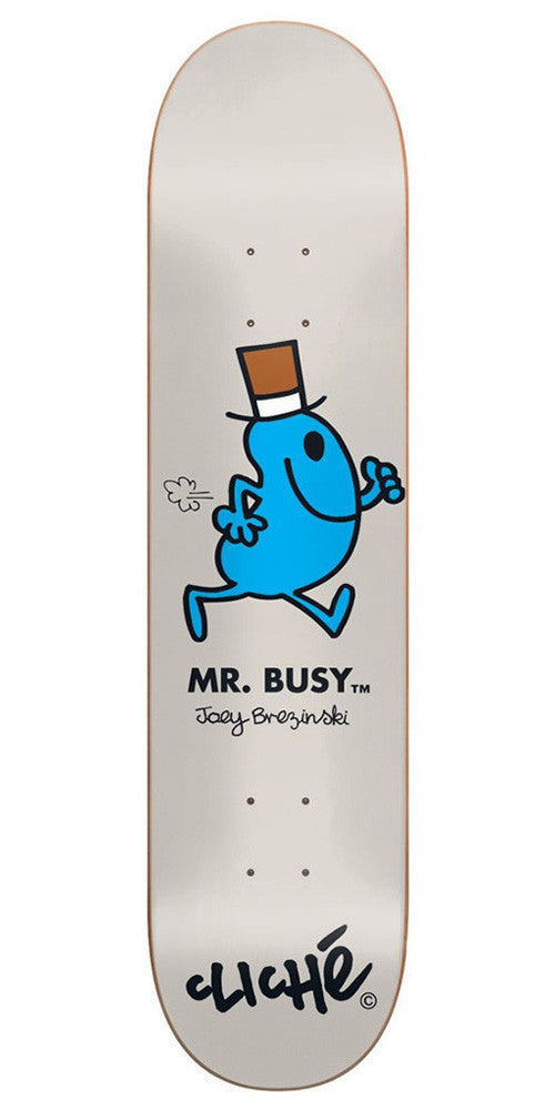 Cliche Joey Brezinski Mr. Men R7 Skateboard Deck - Grey - 8.0in