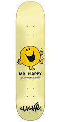 Cliche Javier Mendizabal Mr. Men R7 Skateboard Deck - Yellow - 8.125in