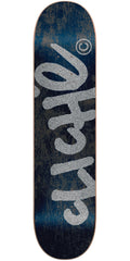Cliche Handwritten Classic Skateboard Deck - Black/Silver - 8.25in