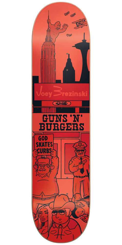 Cliche Joey Brezinski Street Series R7 Skateboard Deck - Red - 7.75in