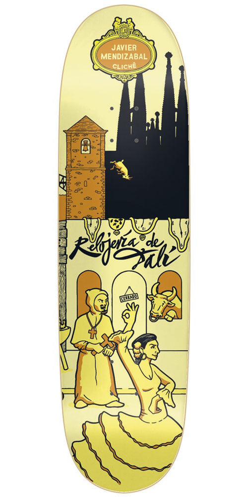 Cliche Javier Mendizabal Street Series R7 Skateboard Deck - Yellow - 8.625in