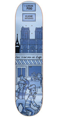 Cliche Lucas Puig Street Series R7 Skateboard Deck - Blue - 8.125in