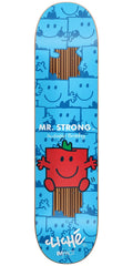 Cliche Andrew Brophy Mr. Men Impact Skateboard Deck - Blue - 8.125in