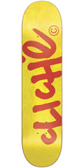 Cliche Handwritten Classic HYB Skateboard Deck - Red/Yellow - 7.75in