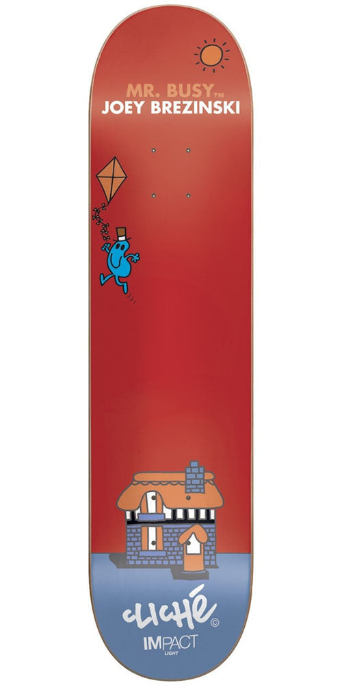 Cliche Joey Brezinski Mr. Men IL Skateboard Deck - Red - 8.0in