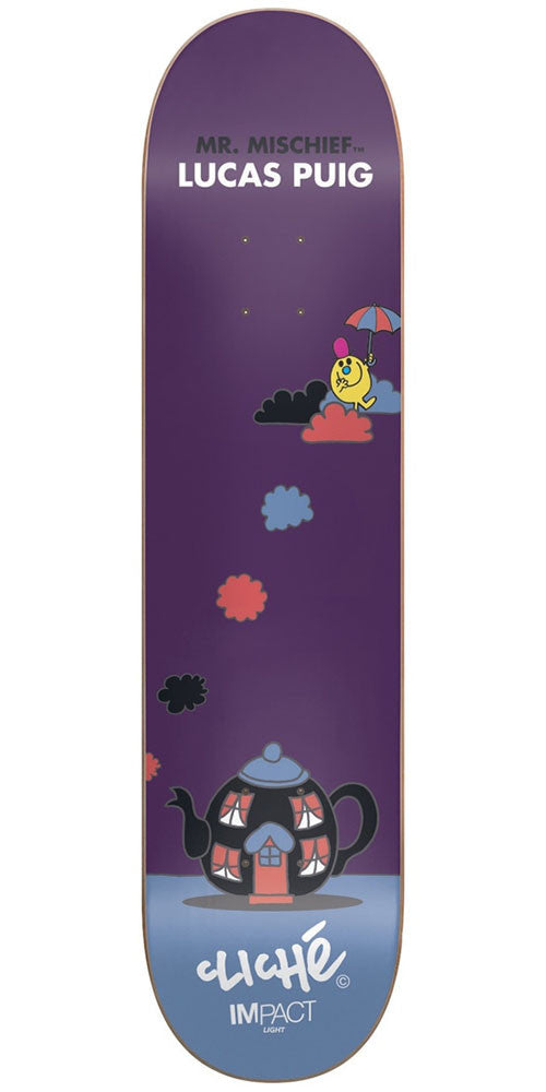 Cliche Lucas Puig Mr. Men IL Skateboard Deck - Purple - 8.25in