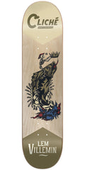 Cliche Lem Villemin Swanski R7 Skateboard Deck - Natural - 8.25in
