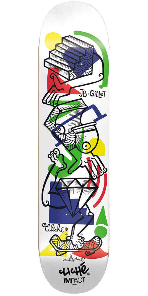 Cliche jb gillet nils impact light skateboard deck white 80in cliche jb gillet nils impact light skateboard deck white 80in aloadofball Gallery