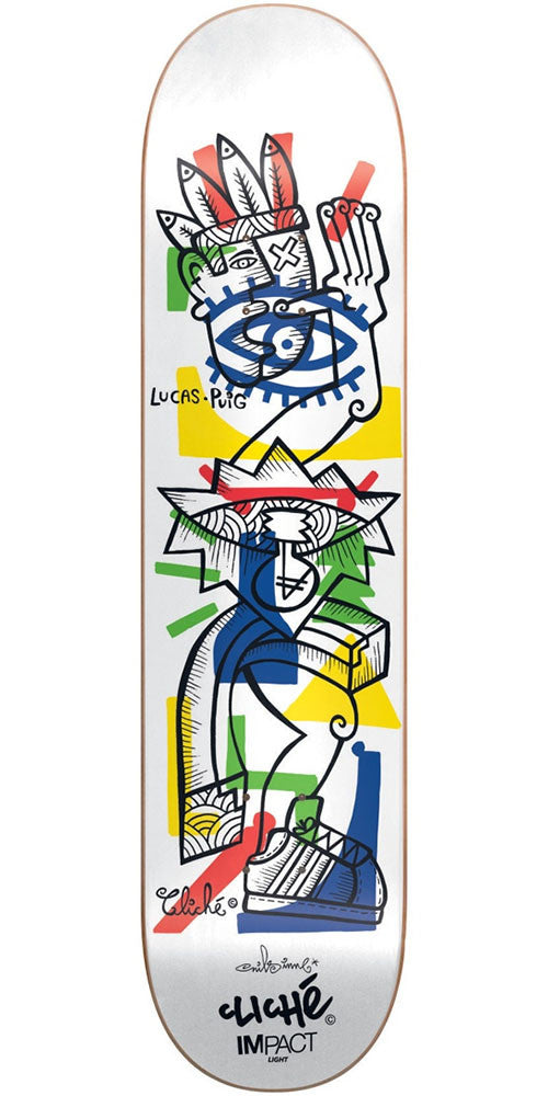 Cliche lucas puig nils impact light skateboard deck white 775in cliche lucas puig nils impact light skateboard deck white 775in aloadofball Gallery