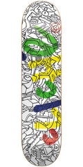 Cliche Nils Handwritten R7 Skateboard Deck - Multi - 8.0in