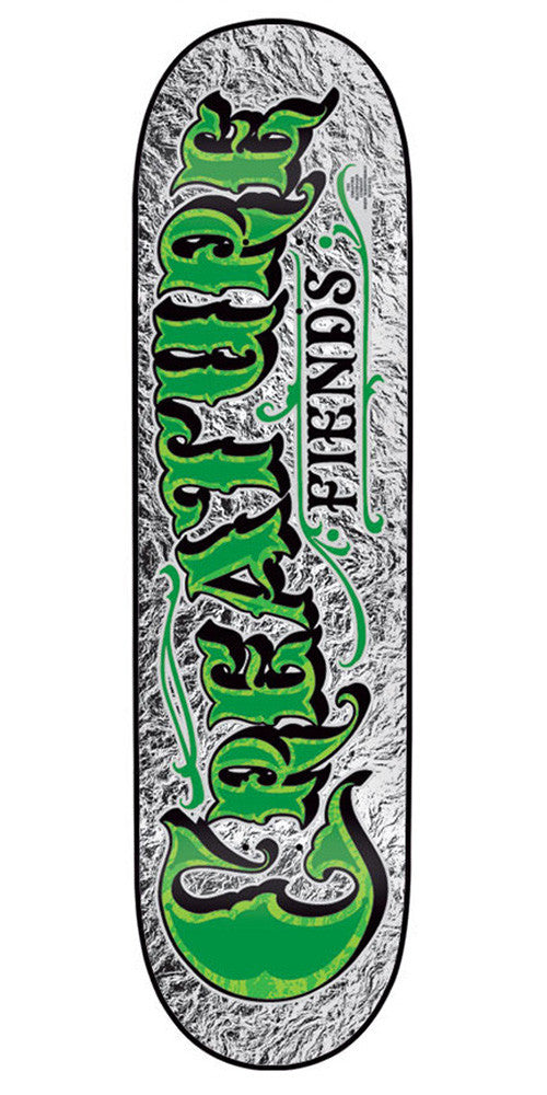 Creature Mirrorz Powerply Small Skateboard Deck 7.6 x 31.7 - Silver