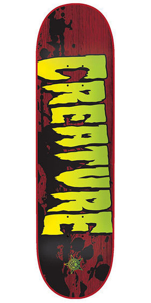 Creature Stained Lg Skateboard Deck 8.6 x 32.35 - Red/Green