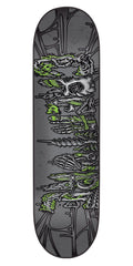Creature Catacombs LG Skateboard Deck 8.1 x 31.9 - Grey/Green
