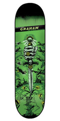 Creature Graham Give 'em Hell DS Skateboard Deck - Green - 8.26in x 31.7in