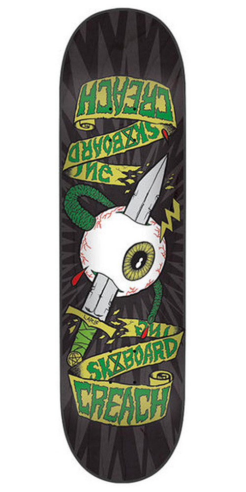Creature Sacred Symmetry Eye LTD Skateboard Deck - Black - 8.2in x 31.8in