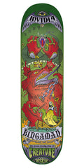 Creature Bingaman 7 Deadly Sins Skateboard Deck - Green - 8.3in x 32.2in