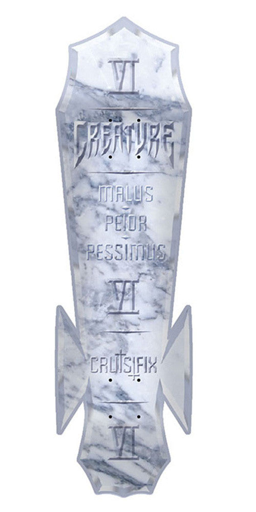 Creature Cruisi-Stone Skateboard Deck - White/Grey - 8.0in x 29.9in