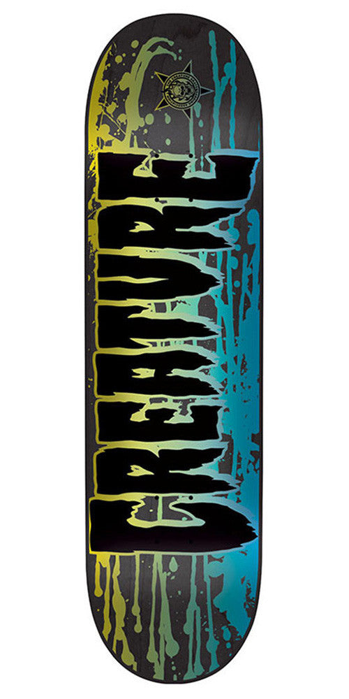 Creature Reverse Stain LG Skateboard Deck - Black - 32.0in x 8.375in