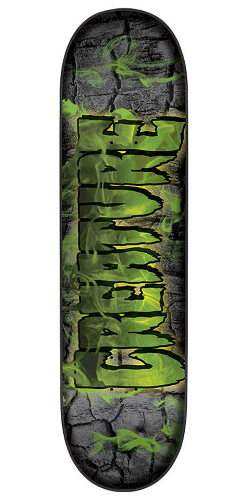 Creature Team Inferno MD Skateboard Deck - Black/Green - 31.9in x 8.1in