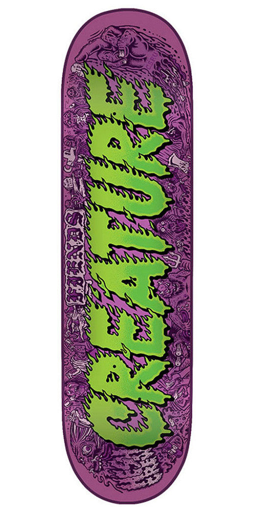 Creature Team Comics SM Skateboard Deck - Purple/Green - 31.6in x 8.0in