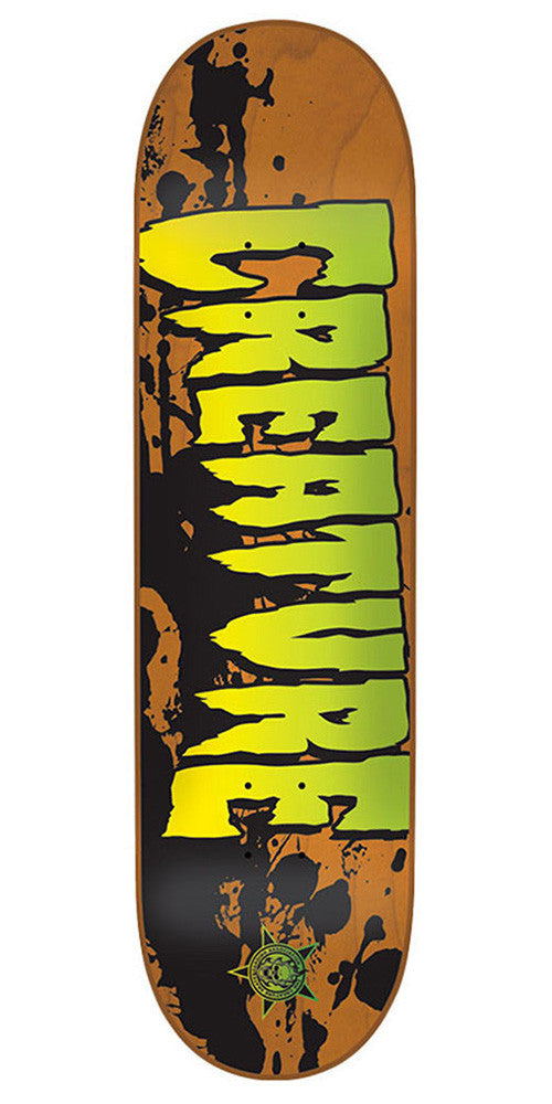 Creature Stained XS Skateboard Deck - Orange - 27.6in x 7.4in