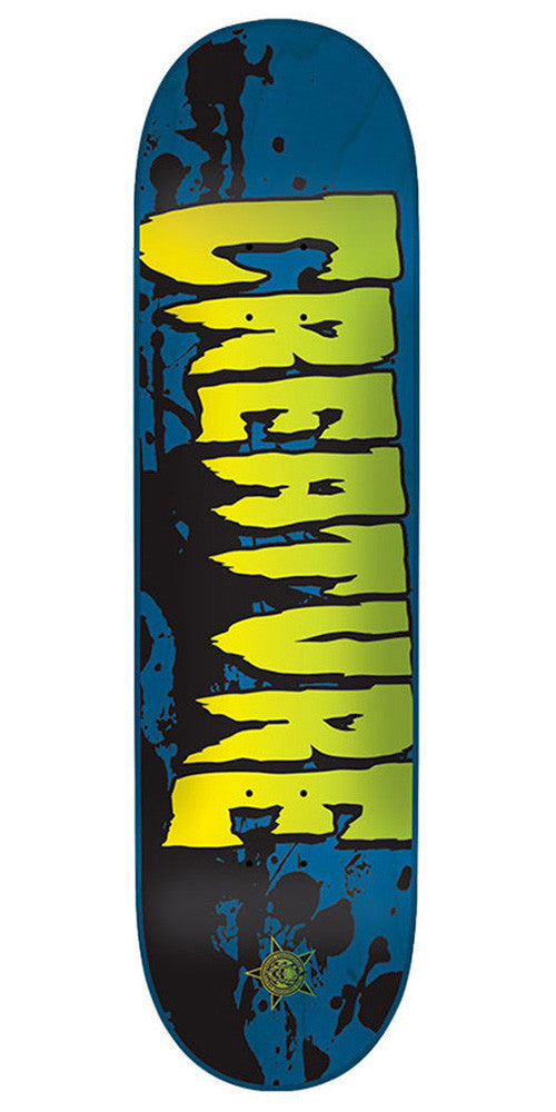 Creature Stained SM Skateboard Deck - Blue - 31.6in x 8.0in