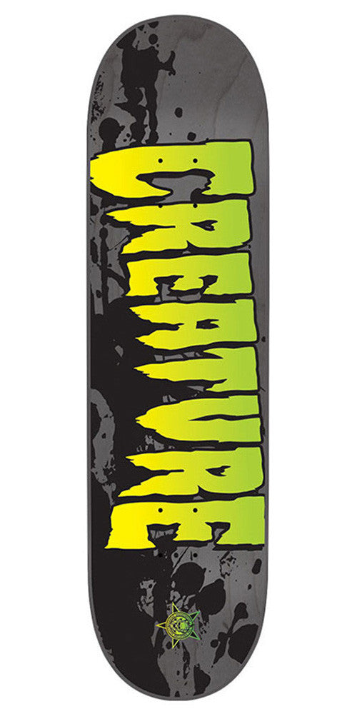 Creature Stained LG Skateboard Deck - Grey - 32.35in x 8.6in