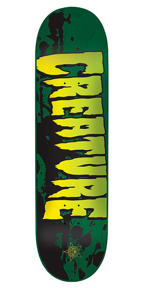 Creature Stained MD Skateboard Deck - Green - 31.7in x 8.26in