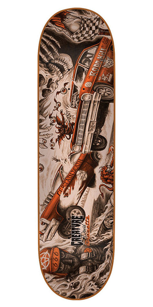 Creature Gravette Strait To Hell Skateboard Deck - Orange - 31.7in x 8.26in