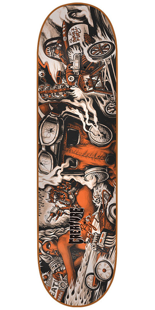Creature Reyes Strait To Hell Pro Skateboard Deck - Multi - 31.6in x 8.0in