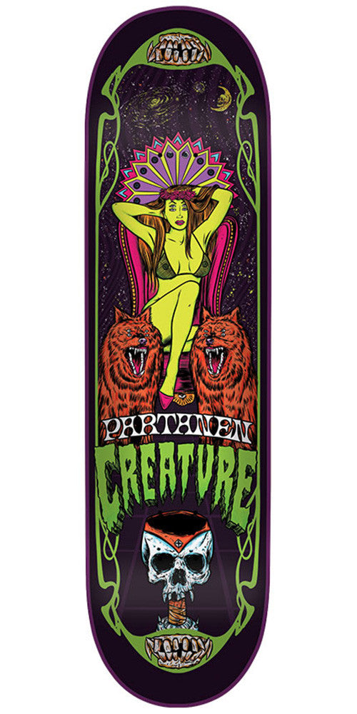 Creature Partanen Hesh Trippers Pro Skateboard Deck - Multi - 31.9in x 8.2in
