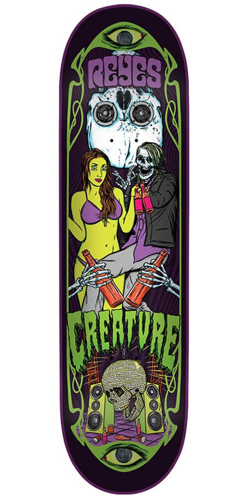 Creature Reyes Hesh Trippers Pro Skateboard Deck - Multi - 31.6in x 8.0in