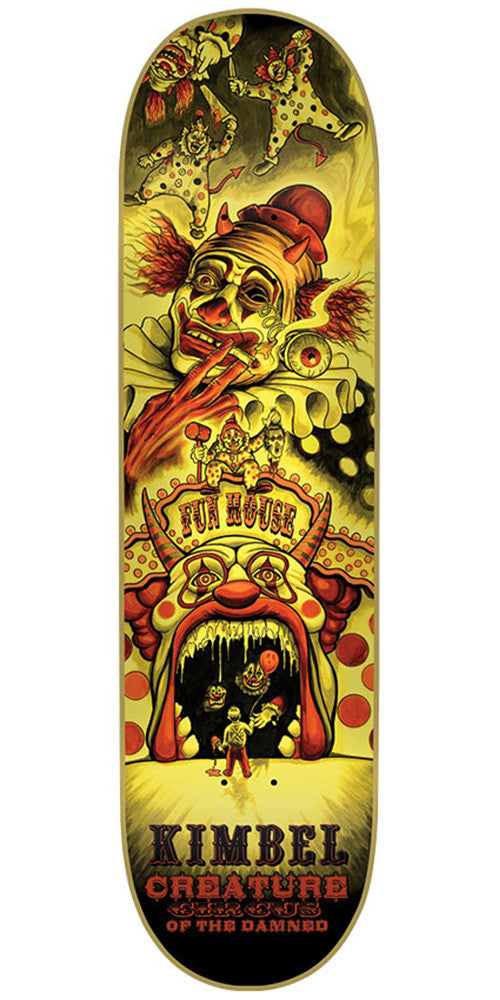 Creature Kimbel Circus Of The Damned Pro Skateboard Deck - Yellow - 33.0in x 9.0in