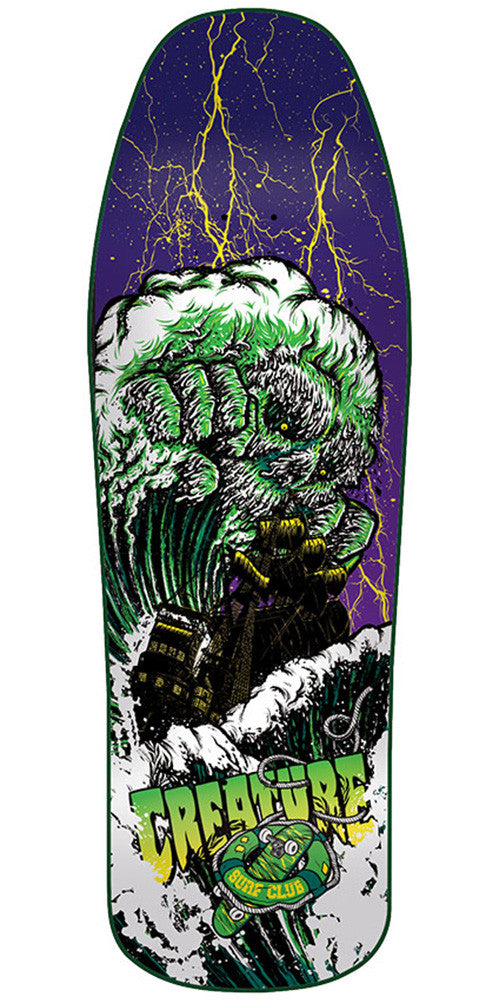 Creature Surf Club Team Large Skateboard Deck - Purple/Green - 31.3in x 10.0in