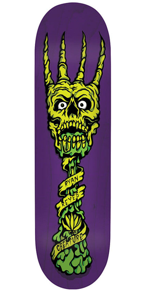 Creature Reyes Fork You Pro Skateboard Deck - Purple - 31.6in x 8.0in