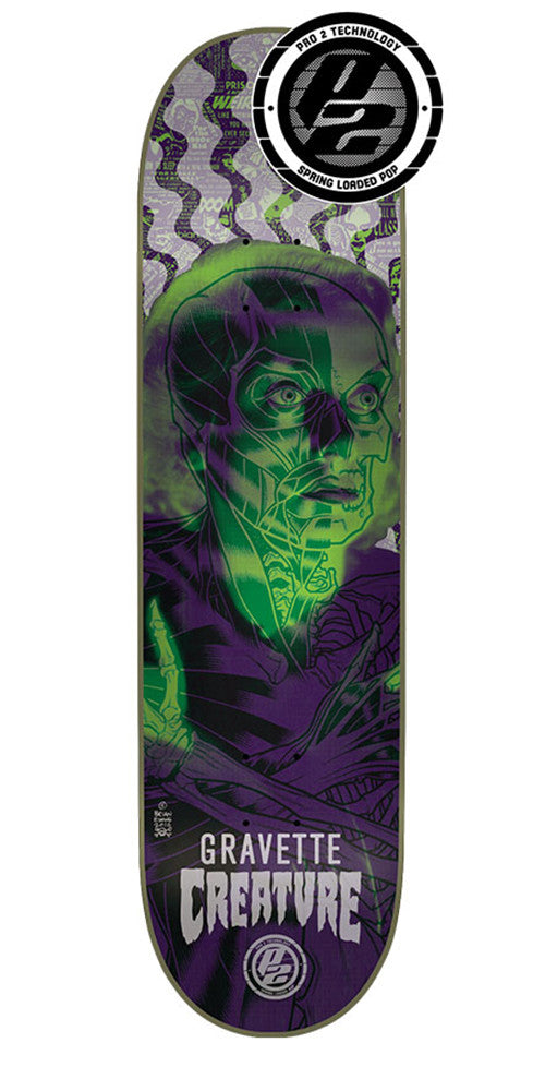 Creature Gravette Anatomy Pro P2 Skateboard Deck - Multi - 32.04in x 8.25in