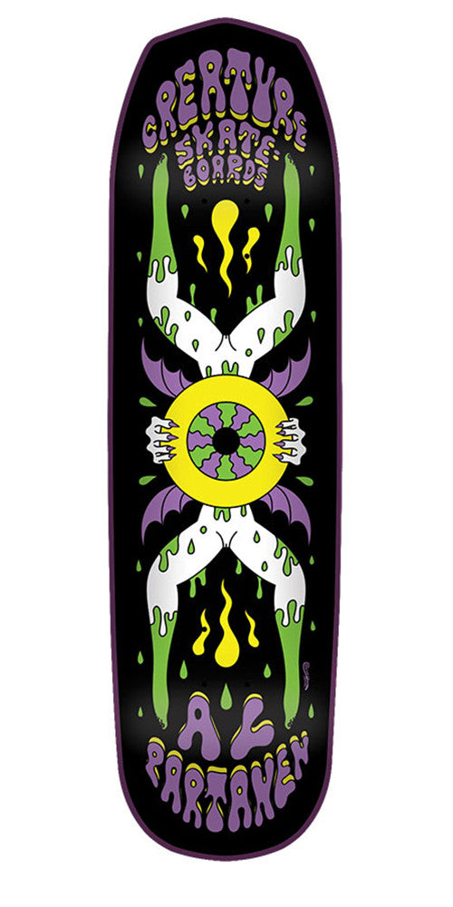 Creature Partanen Shakra SM Pro Skateboard Deck - Black - 31.925in x 8.2in