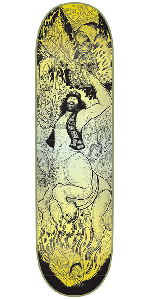 Creature Partanen Rumble Series Pro Skateboard Deck - Black/Yellow - 31.9in x 8.2in