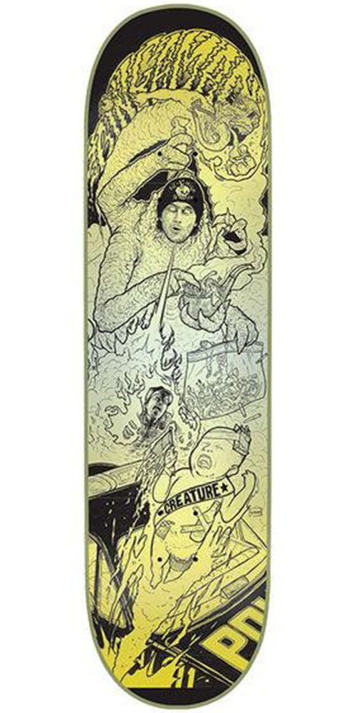 Creature Bingaman Rumble Series Pro Skateboard Deck - Black/Yellow - 32.0in x 8.375in