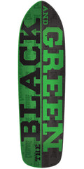 Creature Black & Green Team Skateboard Deck - Black/Green - 32.25in x 8.5in