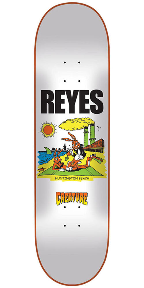 Creature Reyes Huntington Beach Pro Skateboard Deck - White - 31.6in x 8.0in