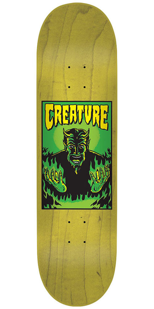 Creature Hell SM Team Skateboard Deck - Yellow - 31.9in x 8.2in