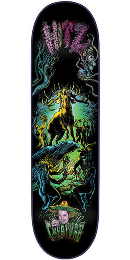 Creature Hitz Rut of the Stag Pro Skateboard Deck - Black - 32.3in x 8.6in