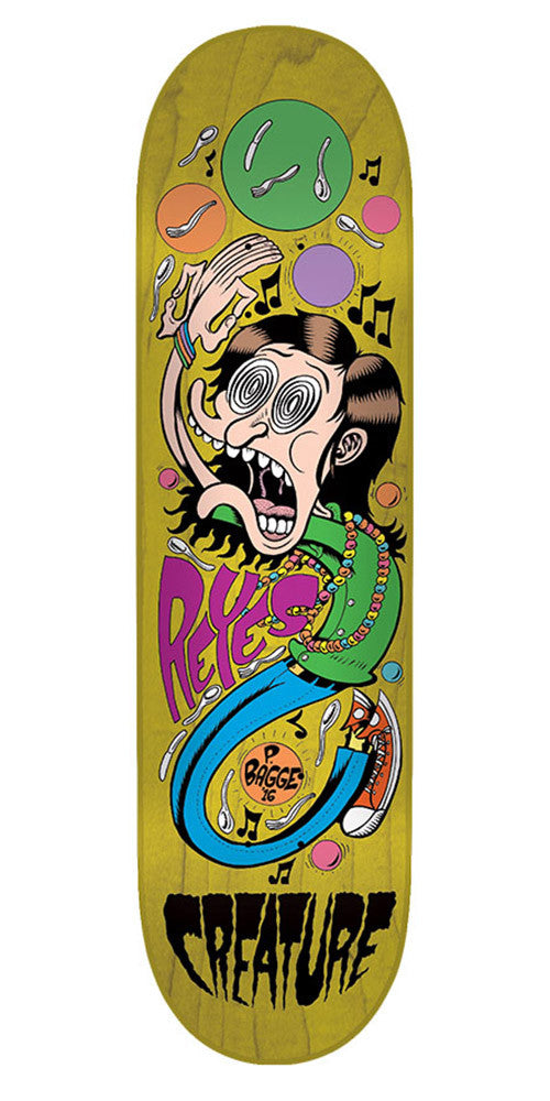 Creature Bagge It Reyes Pro Skateboard Deck - Yellow - 31.6in x 8.0in
