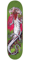 Creature Creek Freaks Team Skateboard Deck - Green - 8.25in x 32.04in