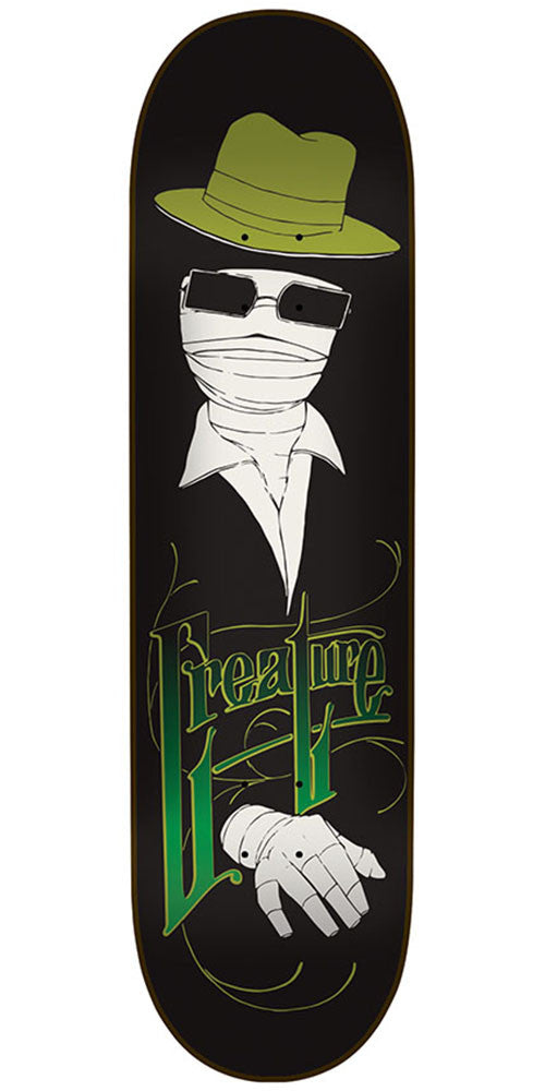 Creature Invisible Man Resurrection Team Skateboard Deck - Black - 8.25in x 32.04in