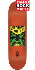Creature Ambush Hard Rock Maple Skateboard Deck - Red - 7.75in x 31.4in