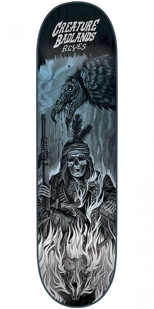 Creature Reyes Back To The Badlands Skateboard Deck - Black - 8.0in x 31.6in